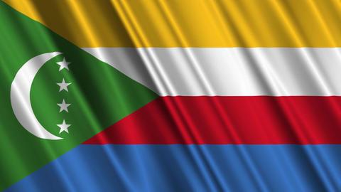 ComorosFlagLoop01 Stock Video Footage