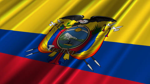 EcuadorFlagLoop02 Stock Video Footage