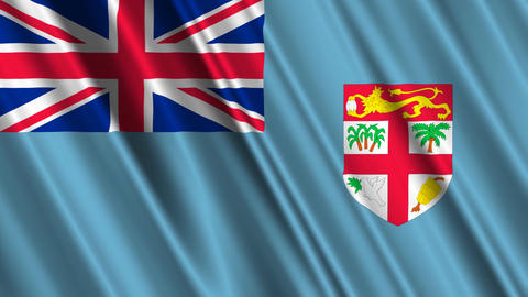 FijiFlagLoop01 Stock Video Footage