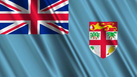 FijiFlagLoop01 Stock Video Footage
