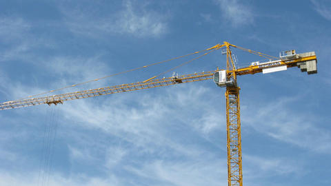 construction crane on sky Stock Video Footage