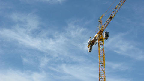 construction crane on sky Stock Video Footage