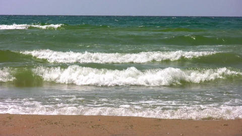 waves on beach Stock Video Footage
