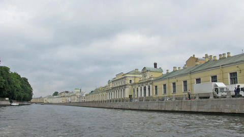 river Neva. Saint Petersburg. Time lapse Stock Video Footage