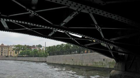 river Neva. Saint Petersburg. Time lapse Footage