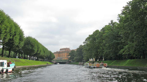 river Neva. Saint Petersburg. Time lapse Stock Video Footage