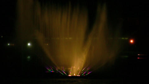 fountain on Neva closeup Stock Video Footage