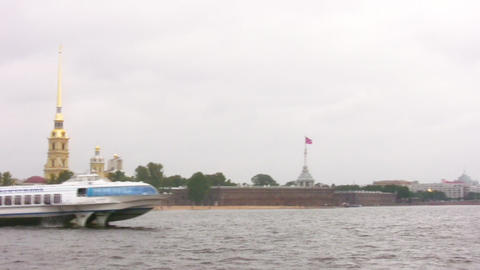 hydrowing ship in Petersburg Stock Video Footage