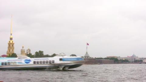 hydrowing ship in Petersburg Footage