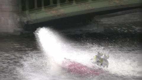 water bike splash people Stock Video Footage
