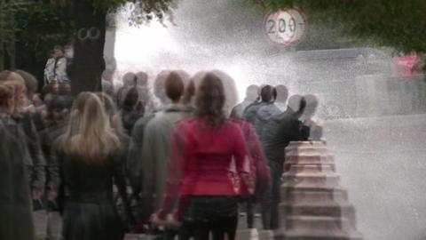 water bike splash people Stock Video Footage