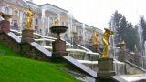 Fountain. Peterhof. Petersburg stock footage