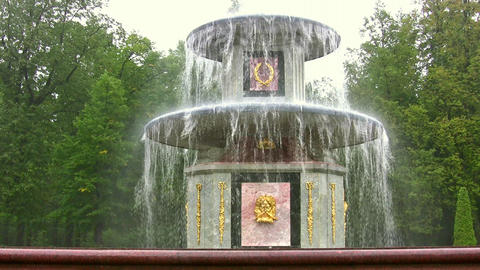 fountain. Peterhof. Petersburg Footage