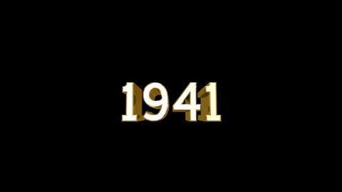 Year 1941 a HD Stock Video Footage