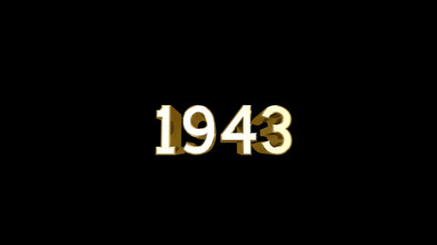 Year 1943 a HD Stock Video Footage