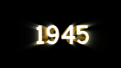 Year 1945 a HD Stock Video Footage