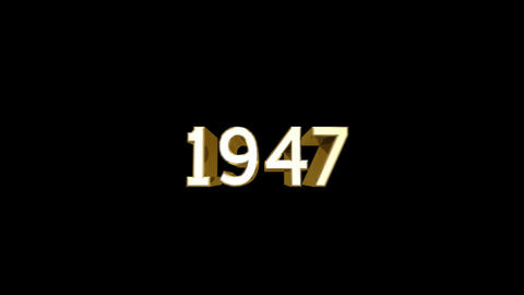 Year 1947 a HD Stock Video Footage