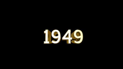 Year 1949 a HD Stock Video Footage