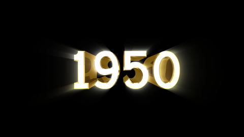 Year 1950 a HD Stock Video Footage
