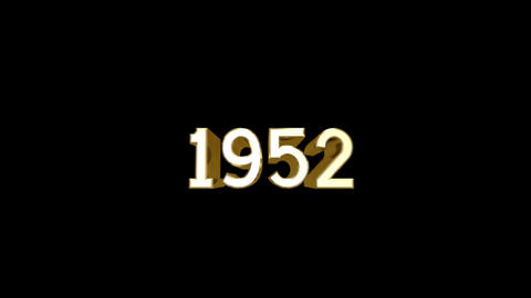 Year 1952 a HD Stock Video Footage