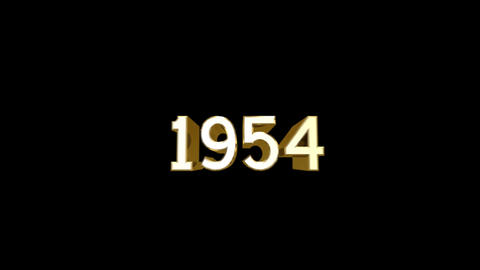 Year 1954 a HD Stock Video Footage