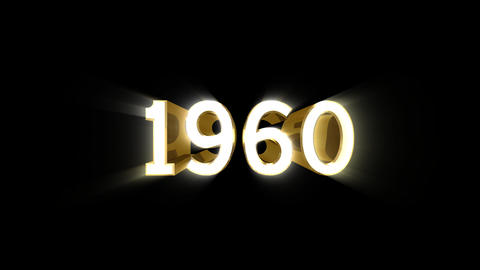 Year 1960 a HD Stock Video Footage