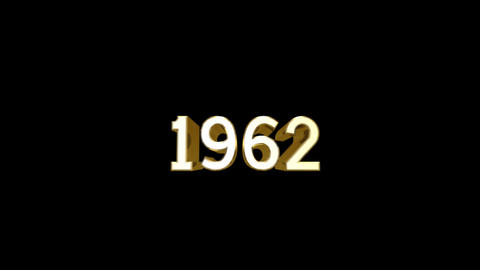Year 1962 a HD Stock Video Footage