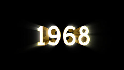 Year 1968 a HD Stock Video Footage