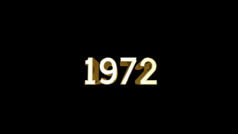 Year 1972 a HD Stock Video Footage