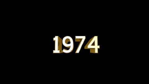 Year 1974 a HD Stock Video Footage