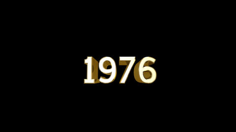Year 1976 a HD Stock Video Footage