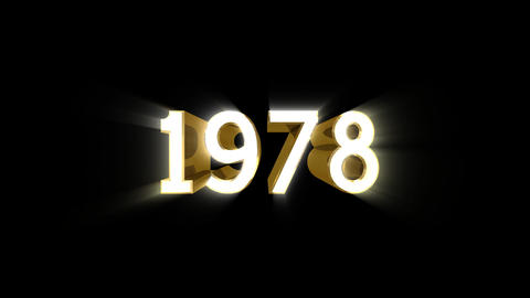 Year 1978 a HD Stock Video Footage