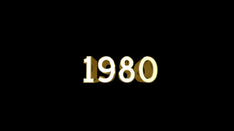 Year 1980 a HD Stock Video Footage