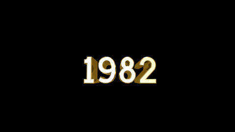 Year 1982 a HD Stock Video Footage