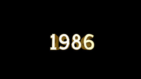 Year 1986 a HD Stock Video Footage