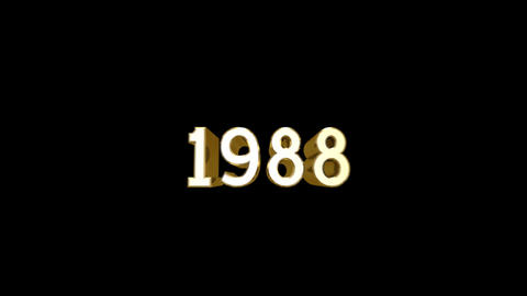 Year 1988 a HD Stock Video Footage