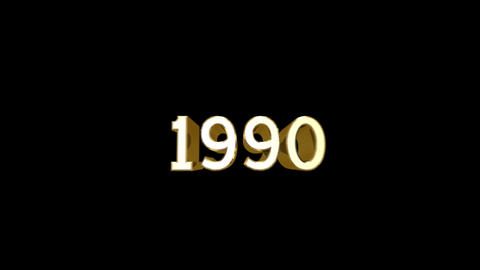 Year 1990 a HD Stock Video Footage