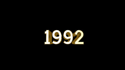 Year 1992 a HD Stock Video Footage