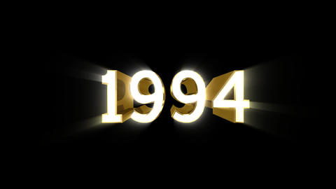 Year 1994 a HD Stock Video Footage