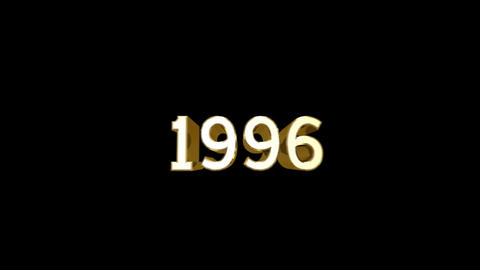 Year 1996 a HD Stock Video Footage