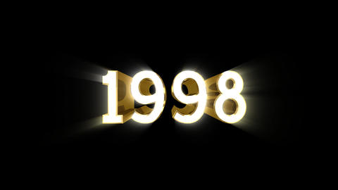 Year 1998 a HD Stock Video Footage