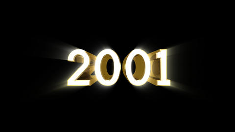 Year 2001 a HD Stock Video Footage