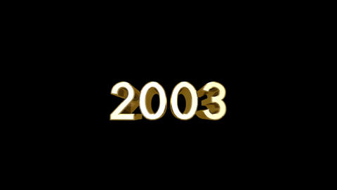 Year 2003 a HD Stock Video Footage