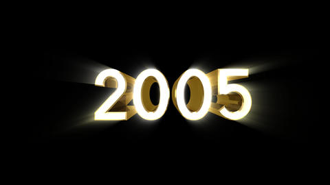 Year 2005 a HD Stock Video Footage