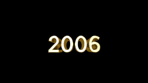 Year 2006 a HD Stock Video Footage