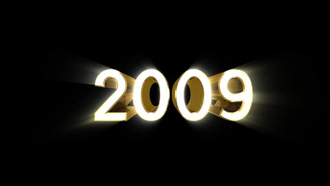Year 2009 a HD Stock Video Footage