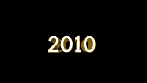 Year 2010 a HD Stock Video Footage