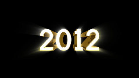 Year 2012 A HD stock footage