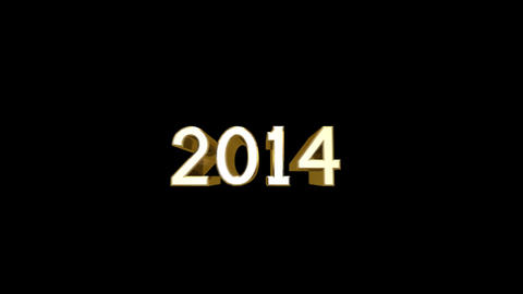 Year 2014 a HD Stock Video Footage