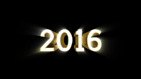 Year 2016 a HD Stock Video Footage